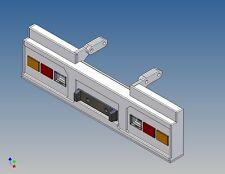 HSTCT 3-Posteriore Paraurti A TAMIYA 40ft. contenitore trailer 1:14 per 2x3 TAMIYA LG
