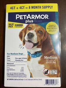 PetArmor Plus Flea & Tick Treatment - M Dogs - 8 Applications for dogs 23-44 lbs