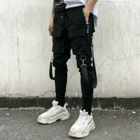 Men's Multi-pocket Cargo Combat Overalls Hip-Hop Harem Pants Jogger Trousers New
