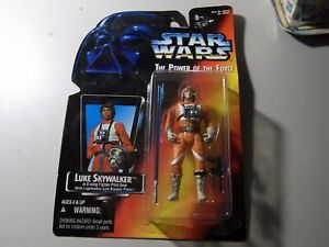 1996 Star Wars PotF Luke Skywalker X-Wing Pilot with Lightsaber & Blaster Pistol