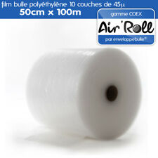 1 Rouleau de film bulle d'air COEX 50cm x 100m
