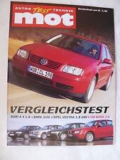 VW Bora 2.0 Highline - Vergleichstest - Sonderdruck mot Heft 7/1999