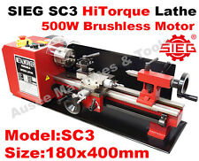 SIEG SC3 /SC2L 180x400mm HiTorque Bench Lathe with Auto Feed Super  C3