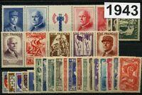France Année complète 1943**