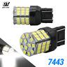 New 7443 7440 LED White 6000K Reverse Turn signal DRL Parking Light Bulbs 57-SMD