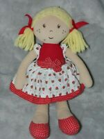 M&S STRAWBERRY RED DOLL BLONDE COMFORTER DOUDOU MARKS AND SPENCER