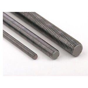 Mild Steel, Stainless Steel, Black Self Colour Metric Threaded Bar. All Sizes