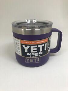 YETI Peak Purple Rambler 14 oz Mug *Rare* NWT - FREE SHIPPING