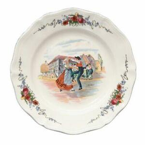 Obernai - Sarreguemines Vintage Earthenware Plate Terres d'Est - Made in France
