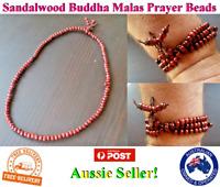 Genuine Sandalwood Prayer Beads Buddha Malas Bracelet Necklace Man Women