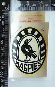 VINTAGE SANFL PORT ADELAIDE FOOTBALL CLUB MAGPIES ARTCOLOUR TEAM LOGO TRANSFER