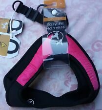 New Gooby Easy Fit Escape Free Dog Harness, Pink & Black, Size Medium