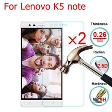 2x Thin 9H HD Tempered Glass Screen Protector Film Protective For Lenovo K5 Note