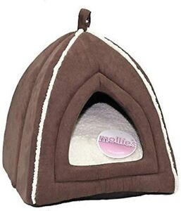 Mollie's Luxury Cat bed | Pet Face | Igloo | Faux Suede | Bedding