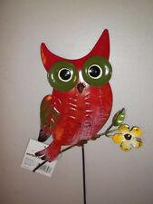 New listing Garden Owl Red Flower Welcome Daisy Stake #44