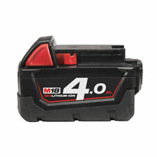 MILWAUKEE BATTERIA 18V LITIO M18 B 4 Ah RED LITHIUM FUEL originale senza scatola