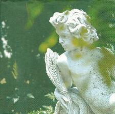 2 Serviettes papier Statue Ange Gardien Decoupage Paper Napkins Angel