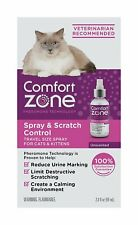 Comfort Zone Spray and Scratch Control Calming Spray for Cats 2oz