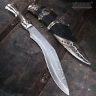 """14"""" Collectible Etched Blade GURKHA KUKRI with Metal Handle Scabbard Included"""