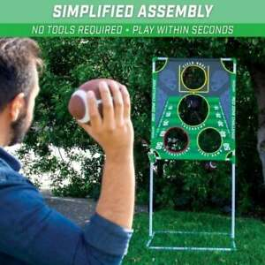 Red Zone Challenge Football Toss Game with Target 4 Footballs Scoreboard Case