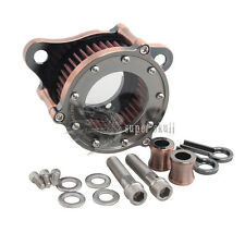 Clear Aluminum Air filter Cleaner System for Harley Sportster XL 1200 883 Copper