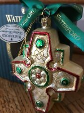 Waterford Blown Glass Regal Celtic Cross Christmas Ornament 1999 Limited Edition