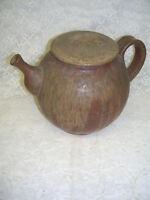 Primitive Pottery Teapot Signed VITA