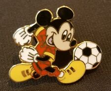 Mickey Mouse Playing Soccer Pin disneyland paris football shoes team player