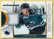 STEVE BERNIER 07-08 FLEER HOT PROSPECTS GAME WORN JERSEY SAN JOSE SHARKS