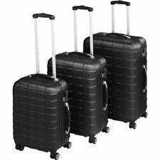 TecTake 402669 Set de Maletas de Viaje 3 Piezas - Negro