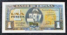 More details for spain 1 peseta banknote (p-122a) 1940grade: au