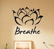 Lotus Flower Wall Decal Yoga Studio Vinyl Sticker Removable Home Decor 9(nse)