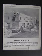VTG WWII Jan 16 1943 Tel-Pics War Bonds Poster Damage in Bengasi Military Truck