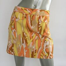 J Crew Mini Skirt Womens Size 2 Limoncello Abstract Print Cotton