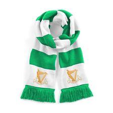 Retro Hibernian 1900s Verde/Bianco Tradizionale Sciarpa Calcio Logo Ricamato