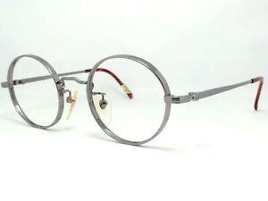 OXFORD POLO CLUB 016C246 Gunmetal Gray Titanium Round Frame Eyeglasses Brille