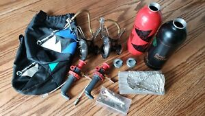 MSR Whisperlite Stove Lot with 2 Stoves, 2 Fuel Bottles, 2 Pumps and Accessories