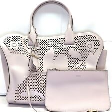Tod's Women's Violet Cape Media Laser-Cut Leather Tote bag with wallet