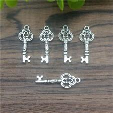 Wholesale 12pcs Tibet silver Key Pendant beaded Jewelry Charm DIY