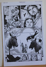 TIMOTHY TRUMAN original art, CREEPY #5, pg #20, Decapitation, 11 x 17, 2009