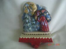 Lovely Pam Schifferl Midwest Cannon Falls Santa w/ Moon & Forest Stocking Hanger