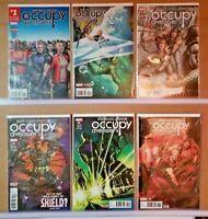 Occupy Avengers #'s 1 2 3 4 5 6  Marvel Hawkeye Comic Book Run Lot  VF+/NM (D946