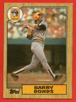 1987 Topps #320 Barry Bonds Rookie RC VG-VGEX+ STAIN Pittsburgh Pirates FREE S/H