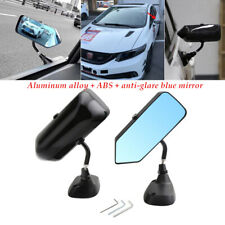Black Car Side Blue Rearview Mirror Metal Bracket UV-Protected Universal