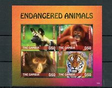 Gambian Monkeys Postal Stamps