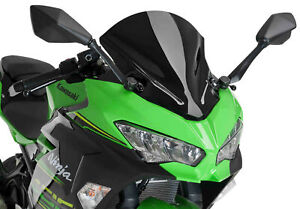 Z-Racing Windscreen - Black Puig 9976N For 18-21 Kawasaki Ninja 400