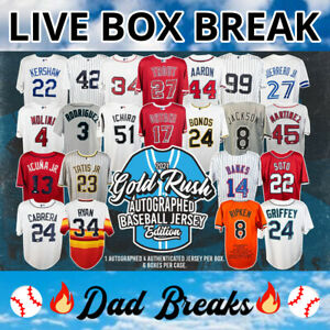 LOS ANGELES DODGERS Gold Rush autographed/signed baseball jersey LIVE BOX BREAK