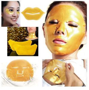 Collagen Crystal Facial Face Bag Under Eye Neck Lip Mask Anti-Ageing Puff UK