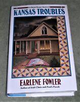 KANSAS TROUBLES Benni Harper Mystery by Earlene Fowler 1996 HC/DJ ~1st 1st+Cover