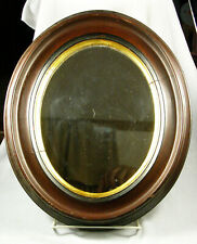Antique Victorian Oval Walnut Frame with Mirror